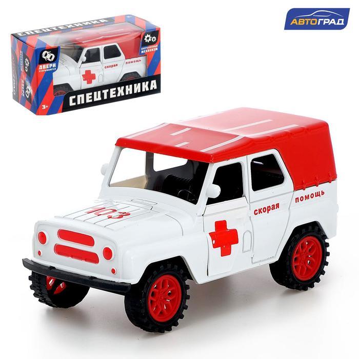 Машина инерционная «Джип Скорая помощь» - фото 105656945