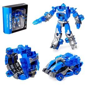 Робот «Часы», трансформируется в робота и машинку, цвета МИКС
