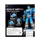 Робот - трансформер «Часы», трансформируется в робота и машинку, цвета МИКС - фото 105503581