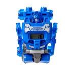 Робот - трансформер «Часы», трансформируется в робота и машинку, цвета МИКС - фото 105503577