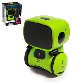 Робот интерактивный «Милый робот», световые и звуковые эффекты, цвет зелёный