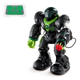 Робот радиоуправляемый «Патрульный», световые эффекты, русское озвучивание, цвет чёрный