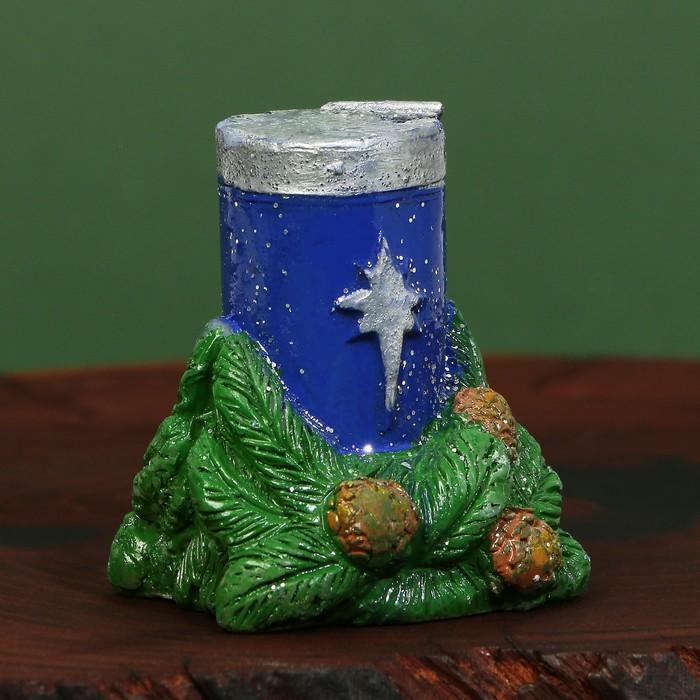Свеча рождественская «Сeребряное Рождество»