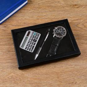 3in1 gift set (pen, clock, calculator)