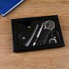 Набор подарочный 4в1 (ручка, часы, ключница, брелок) - фото 8873599
