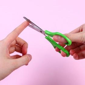 Ножницы детские 12 см, безопасные, пластиковые ручки, МИКС, Маша и Медведь