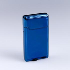 """Зажигалка газовая """"Уилтшир"""", 3.3х6.2 см, синяя в Донецке"""