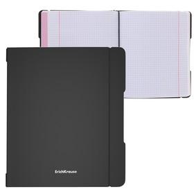 Тетрадь А5+, 48 листов в клетку, сменная пластиковая обложка, Erich Krause FolderBook, чёрная