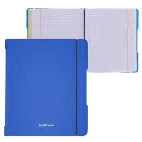 Тетрадь А5+, 48 листов в клетку, съёмная пластиковая обложка, Erich Krause FolderBook, синяя