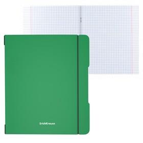 Тетрадь А5+, 48 листов в клетку, съёмная пластиковая обложка, Erich Krause FolderBook, зелёная