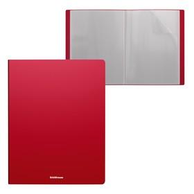 Folder 30 tser A4 inserts ErichKrause Classic plastic, red 43080