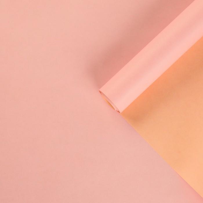 Бумага упаковочная крафт, двухцветный, розовый-персиковый, 0,72 х 10 м - фото 798325927