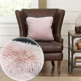 Наволочка, размер 48 × 48 см, цвет розовый