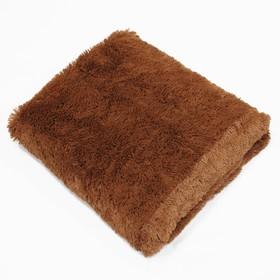 Плед, размер 160 × 220 см, цвет коричневый