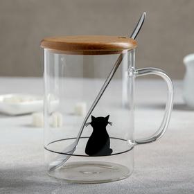 {{photo.Alt || photo.Description || 'Кружка «Котик», с крышкой и ложечкой, 450 мл, МИКС'}}