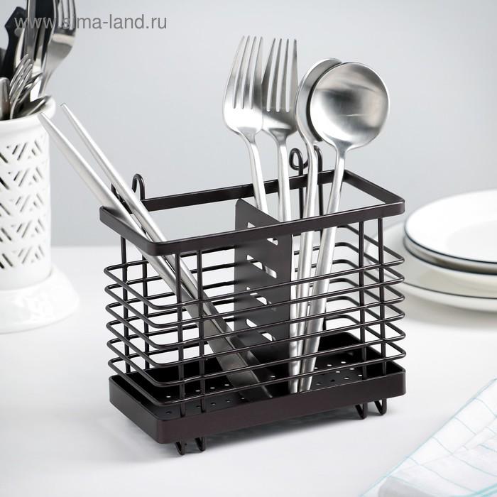 Dryer for Cutlery hanging on the legs 16,4х10х14,4 cm, color brown