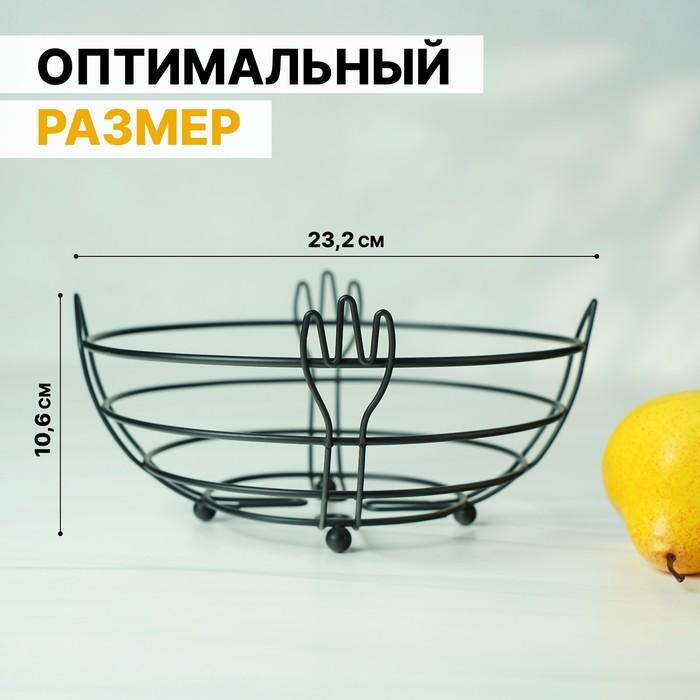 """Vase for fruit """"Devices"""" 23,5х23,2x10,6 cm, colour black"""