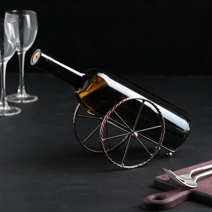 Подставка для бутылки Доляна «Колесница», 19×10×12 см - фото 798326495