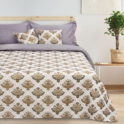 Bedspread tapestry Ethel Baroque, grey, 140x200 cm, p/e 80%, CL 20% (450 g/m)