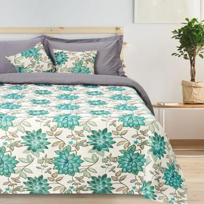 """Bedspread tapestry Ethel """"Luxury"""", turquoise, 140x200 cm, p/e 80%, CL 20% (450 g/m)"""
