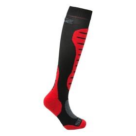 Гольфы SIXS MOT S MERINOS Wool, размер 43-46, красный, чёрный Ош