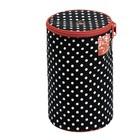 Футляр для пряжи «Полька дот», 14,5 × 21,5 см, цвет чёрно-белый