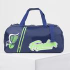 Сумка спортивная, отдел на молнии, 2 наружных кармана, цвет синий/зелёный