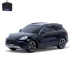Машина радиоуправляемая Porsche Cayenne Turbo, 1:18, работает от батареек, свет, цвет черный