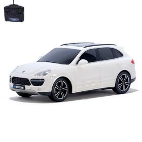 Машина радиоуправляемая Porsche Cayenne Turbo, 1:18, работает от батареек, свет, цвет белый