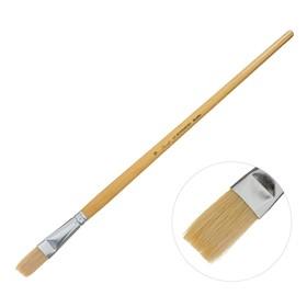 Кисть «Сонет» № 9, щетина, плоская, длинная ручка, d=15 мм