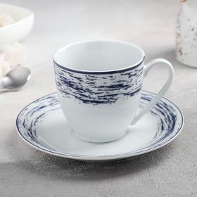 """Чайная пара """"Ласточкино гнездо"""", чашка 100 мл, блюдце 14,5 см"""