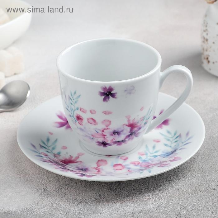 "Decorative vase ""flora"" Cup 200 ml, saucer 14.5 cm"