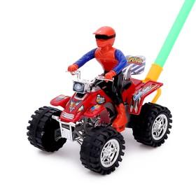 Каталка на палке «Крутой водитель на квадроцикле», цвета МИКС