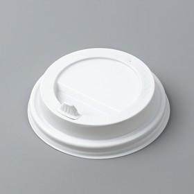 Крышка одноразовая на стакан 'Белая' с носиком, 80 мм Ош