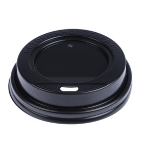 Крышка одноразовая на стакан 'Чёрная' с носиком, 80 мм Ош