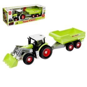Конструктор винтовой «Фермерский трактор», с отвёрткой и насадкой, 2 варианта сборки