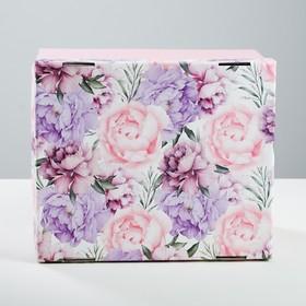 Коробка складная «Цветочная сказка», 31,2 х 25,6 х 16,1 см