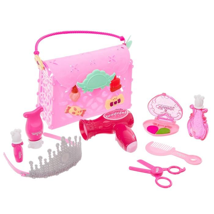 Игровой набор парикмахера «Собираемся на бал», в сумочке, цвета МИКС - фото 105581669