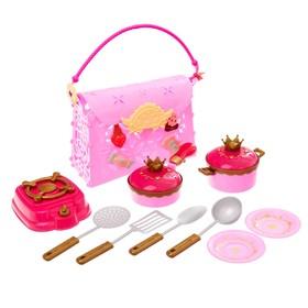 Игровой набор посуды «Готовим вкусный обед», в сумочке, цвета МИКС