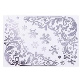 """Набор наклеек """"Зимние узоры"""" голографическая фольга, снежинки, 16,7 х 24,6 см"""