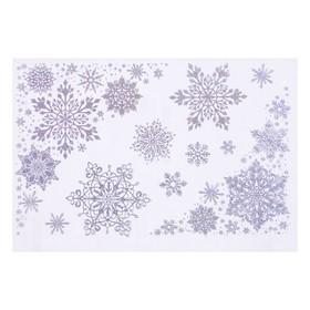 """Набор наклеек """"Снежный вихрь"""" голографическая фольга, снежинки, 16,7 х 24,6 см"""