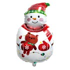 "Balloon foil 34"" ""Snowman with bear"""