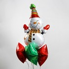 """A bouquet of balloons """"Funny snowman and stars"""", the foil, set of 5 PCs"""