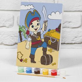 Картина по номерам на подрамнике «Пират с сокровищами» 21×15 см