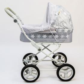 Универсальная москитная сетка для детской коляски, на резинке, цвет белый