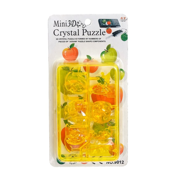 Мини-пазл 3D кристаллический «Фрукты», цвета МИКС