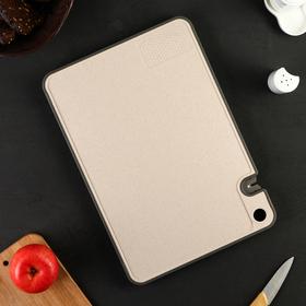 Доска разделочная 40×28 cм Virtuoso, с сушилкой для посуды, цвет сливочный