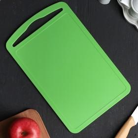 """Доска разделочная 32×20 """"Комфорт"""", цвет зелёный"""