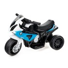 """Motorcycle """"BMW S1000 RR"""", the color blue, leather seat"""