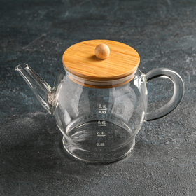 "The tea pot with a metal sieve ""Eco. Bubble"" 800 ml, 22h12,5x15 cm"